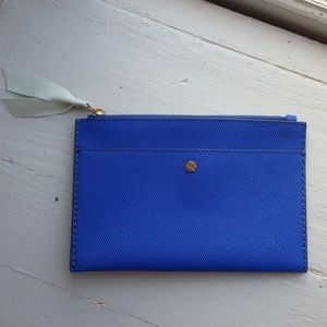 J. CREW leather wallet clutch pouch